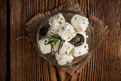Marinated Feta Cheese Royalty Free Stock Images