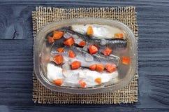 Marinated fish stock photography