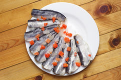 Marinated fish royalty free stock photography