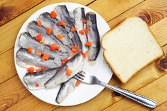 Marinated fish stock image