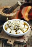 Marinated fresh mozzarella Royalty Free Stock Image