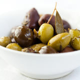 Marinated Greek Olives royalty free stock photography