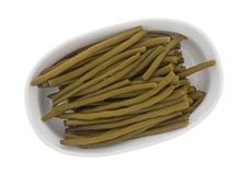 Marinated Green Beans In A Baking Dish Royalty Free Stock Images