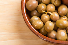 Marinated green olives Royalty Free Stock Images