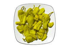 Marinated Green Peppers Royalty Free Stock Image