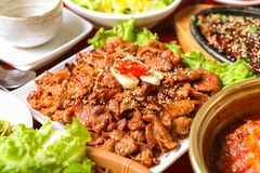 Marinated Grilled Bulgogi stock photos
