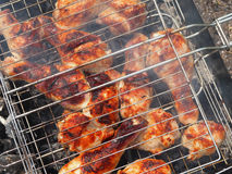 Marinated Grilled chicken Leg Royalty Free Stock Photo