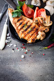 Marinated grilled healthy chicken breasts Royalty Free Stock Image