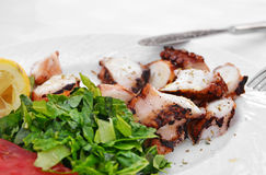 Marinated grilled octopus Stock Photography