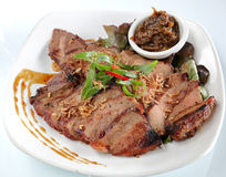 Marinated grilled ox tongue Stock Photo