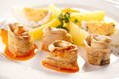 Marinated herring fillets Stock Photography