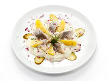 Marinated herring fillets Royalty Free Stock Image