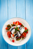 Marinated herring fillets Royalty Free Stock Photo