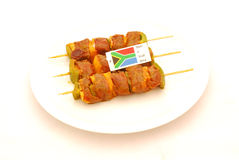 Marinated Lamb Kebabs Royalty Free Stock Photo