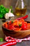 Marinated lecho,hungarian cuisine. Royalty Free Stock Photo