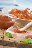 marinated meat arkivfoto