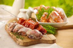 Marinated meat for grill Royalty Free Stock Image