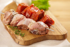 Marinated meat for grill Stock Photography