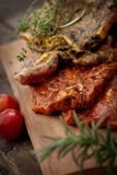 Marinated meat Stock Images