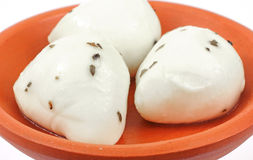 Marinated mozzarella balls Stock Photography