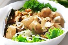 Marinated mushroom salad Royalty Free Stock Photography