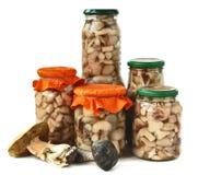 Marinated Mushrooms Stock Photo