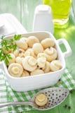 Marinated mushrooms Royalty Free Stock Image