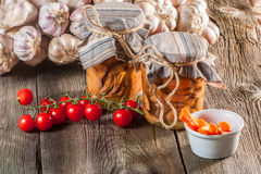 Marinated mushrooms. Royalty Free Stock Photos