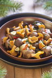 Marinated mushrooms with spices Royalty Free Stock Image