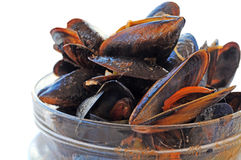 Marinated mussels Royalty Free Stock Photos