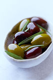 Marinated Olives stock photos