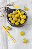 Marinated olives Stock Photo