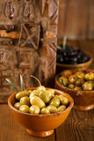 Marinated Olives in bowls Royalty Free Stock Photo