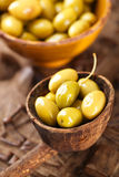 Marinated Olives in bowls Royalty Free Stock Photography
