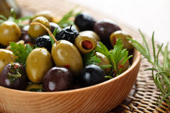 Marinated olives. Royalty Free Stock Image