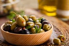 Marinated olives. Royalty Free Stock Photography