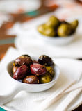 Marinated olives snack Stock Photo