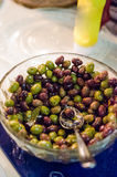 Marinated olives snack Stock Images