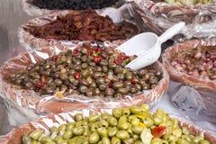 Marinated Olives Royalty Free Stock Photos