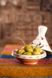 Marinated Olives in tajine bowls Stock Photography