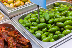 marinated olivgrön Arkivfoto