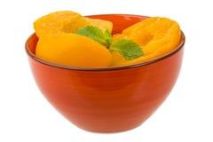 Marinated peaches Stock Photos