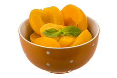 Marinated peaches Stock Images