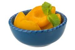 Marinated peaches Stock Photo
