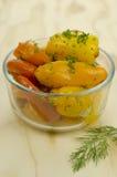 marinated peppar Fotografering för Bildbyråer