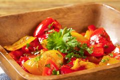 Marinated peppers Stock Photography