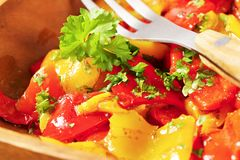 Marinated peppers Royalty Free Stock Photography