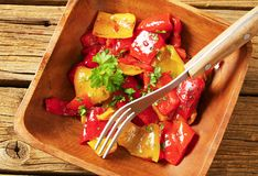 Marinated peppers Stock Image
