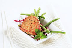 Marinated pork chop and vegetables Stock Photos