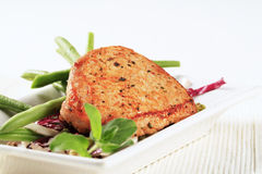Marinated pork chop and vegetables Stock Image